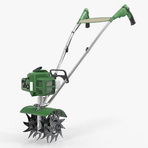 3D model garden mini petrol tiller