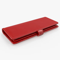 ladies long wallet red 3D