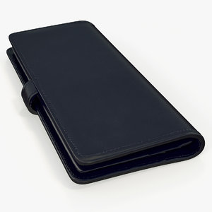 long wallet black model