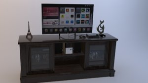 3D entertainment stand model