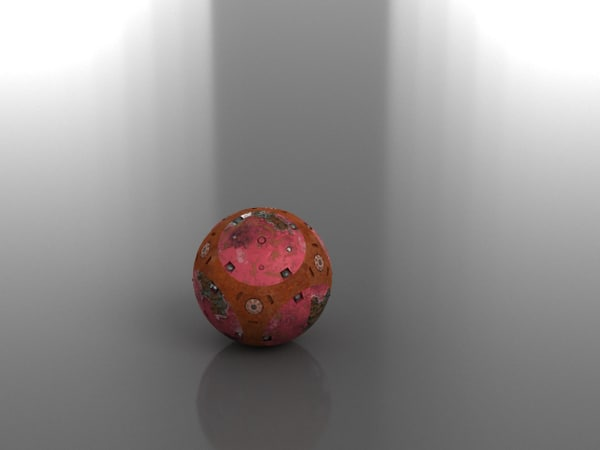3D bomb scifi model