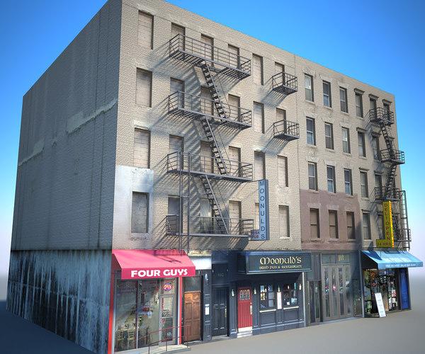 3D new york buildings east