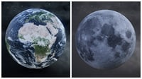 3D earth moon