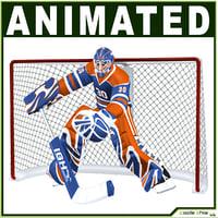 3D hockey character model