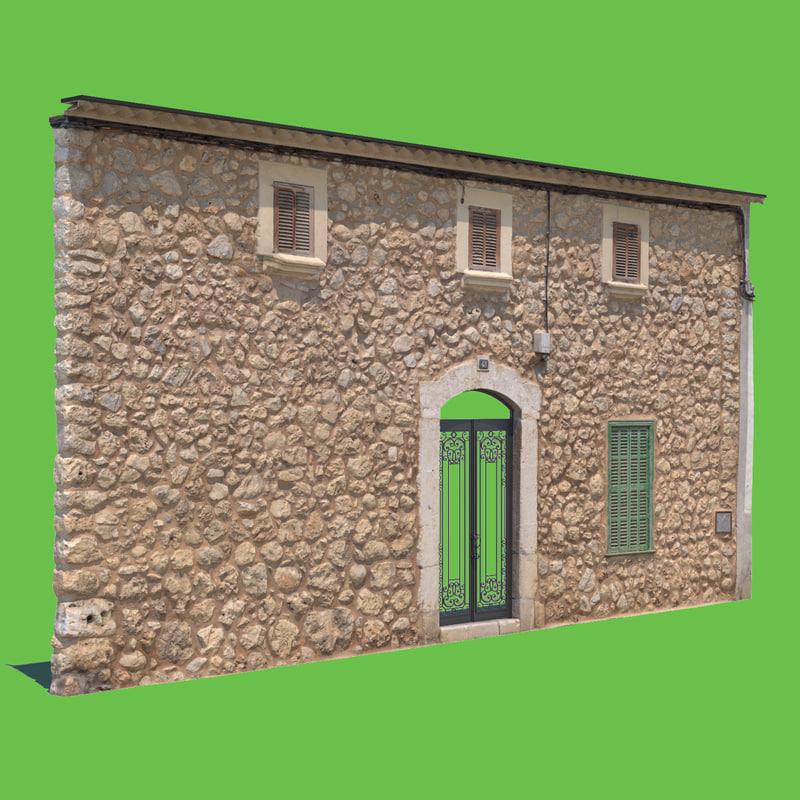 3D model rock house