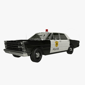 3D galaxie 66 police car model