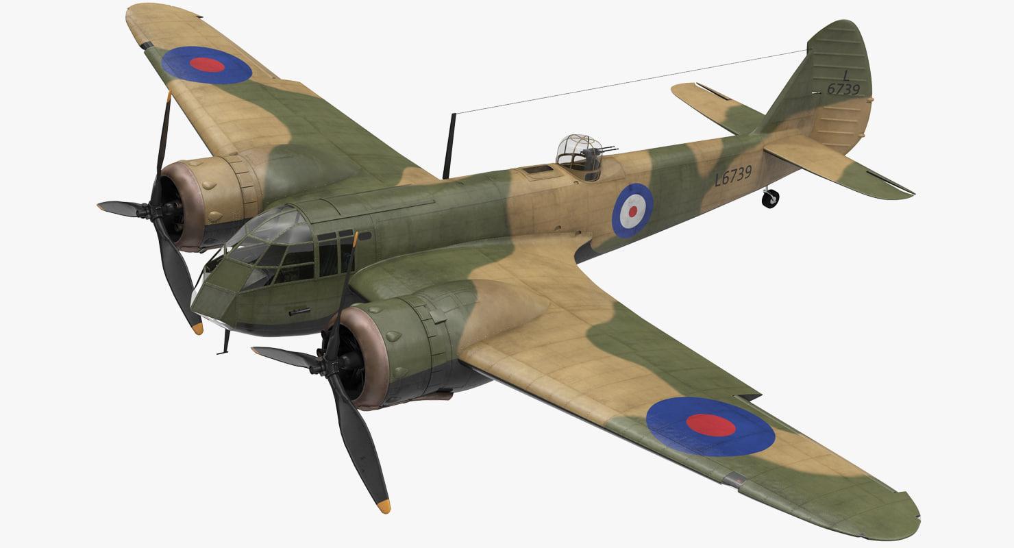 british light bomber aircraft 3D model
