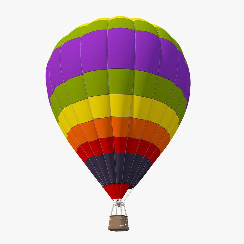 realistic air balloon 3D