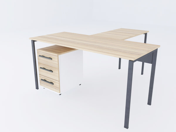 3D metal office table
