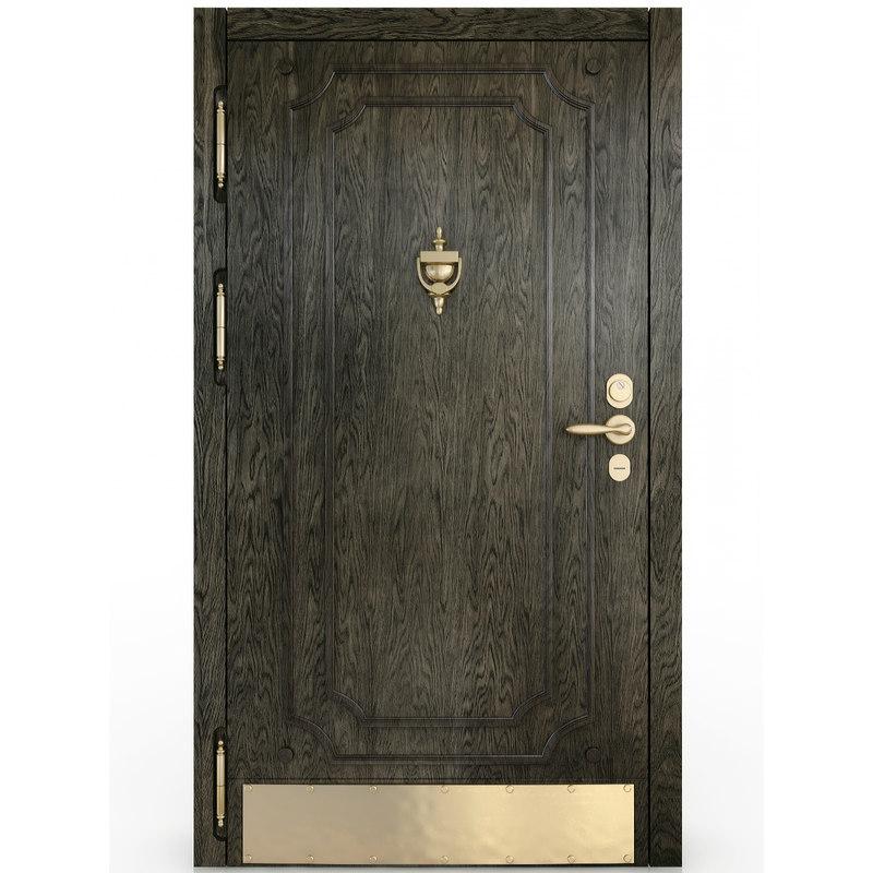 oak door 3D model