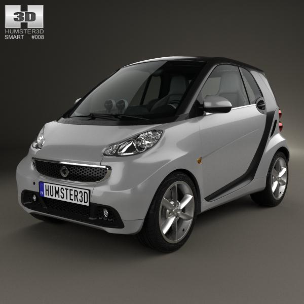 smart fortwo 2012 3D model