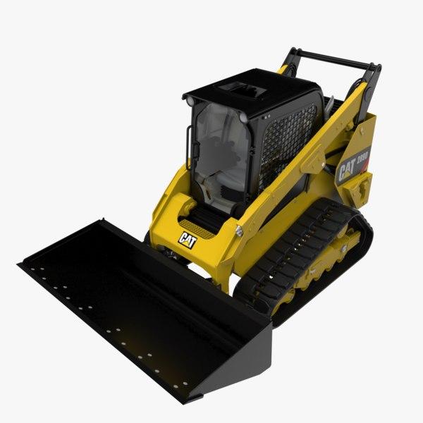 compact track cat289d 3D model