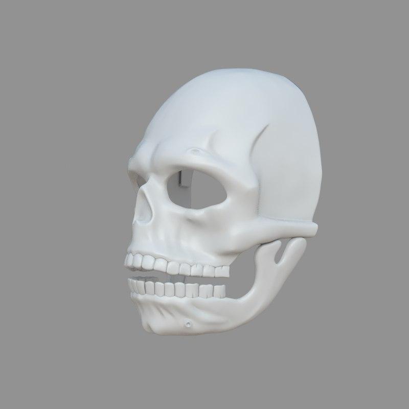 3D james bond spectre mask model