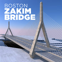 zakim bridge boston model