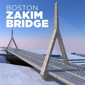 zakim bridge boston model