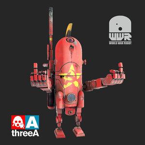 world war robot ussr 3D