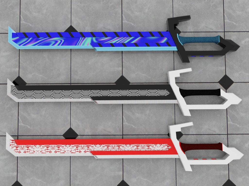3D sword blade