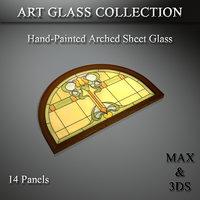 art glass set 18 3D