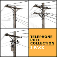 telephone pole 3D model