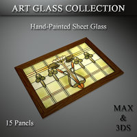 3D art glass set 21 model