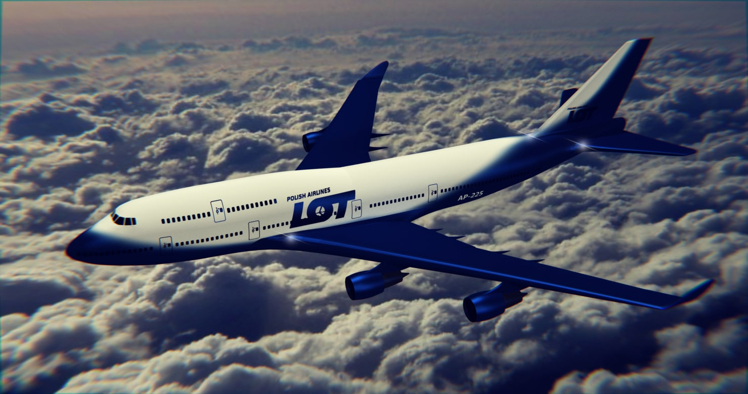 3D 747-400