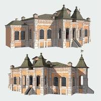 3D model facade window door