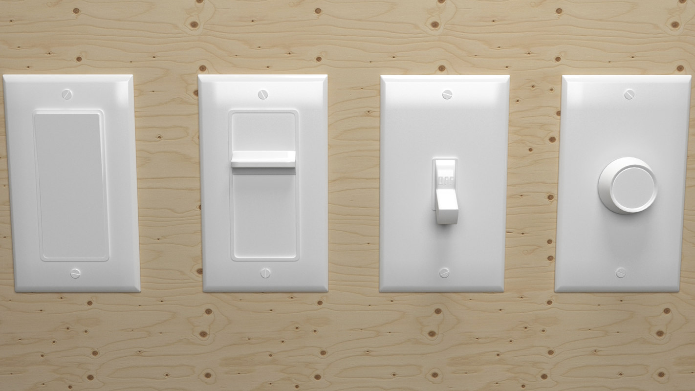 3D electrical light switch model