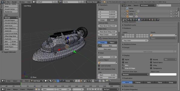 military hovercraft 3D model