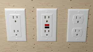 electrical outlets 3D