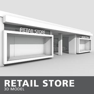 retail interior store model