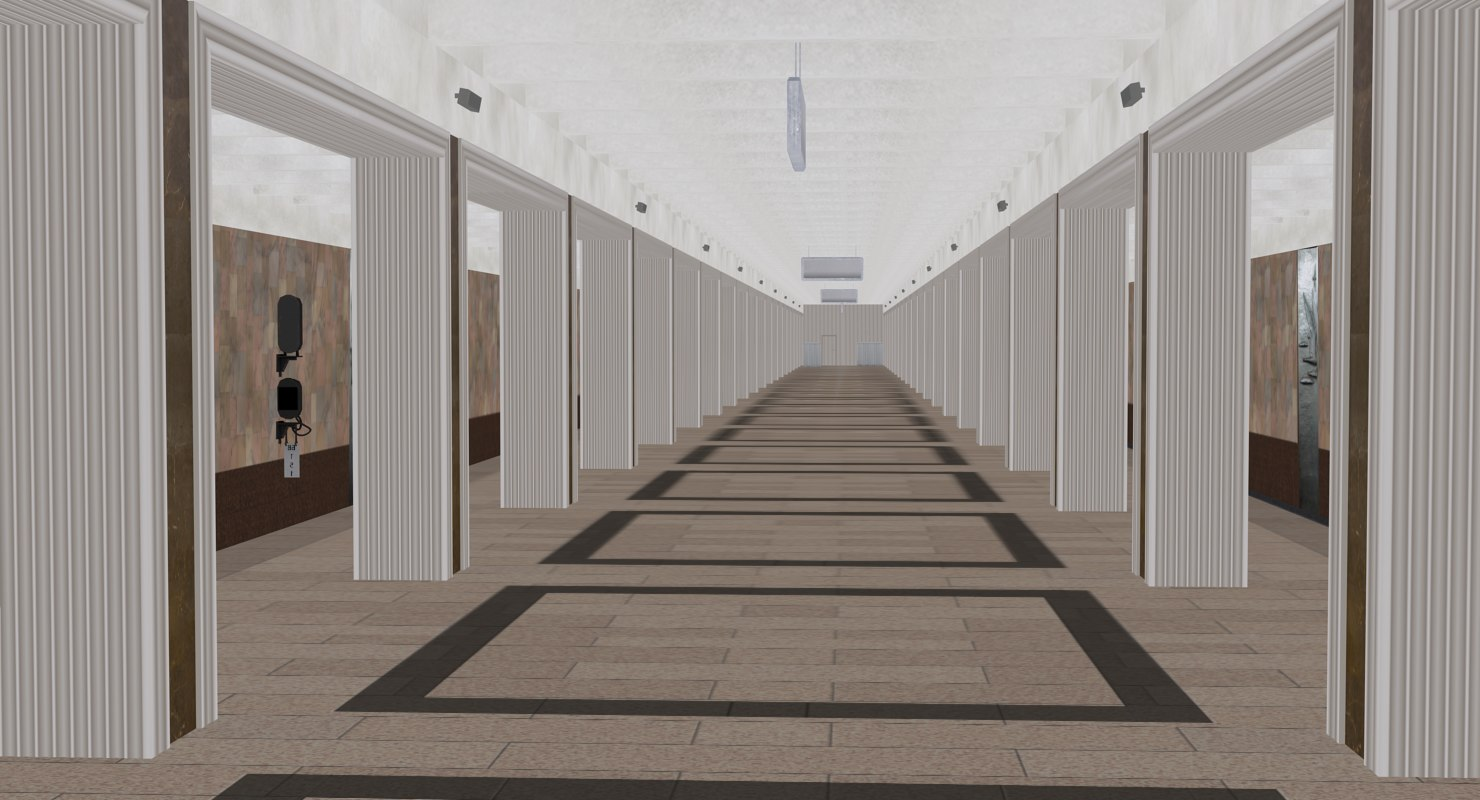 3D soviet union subway station