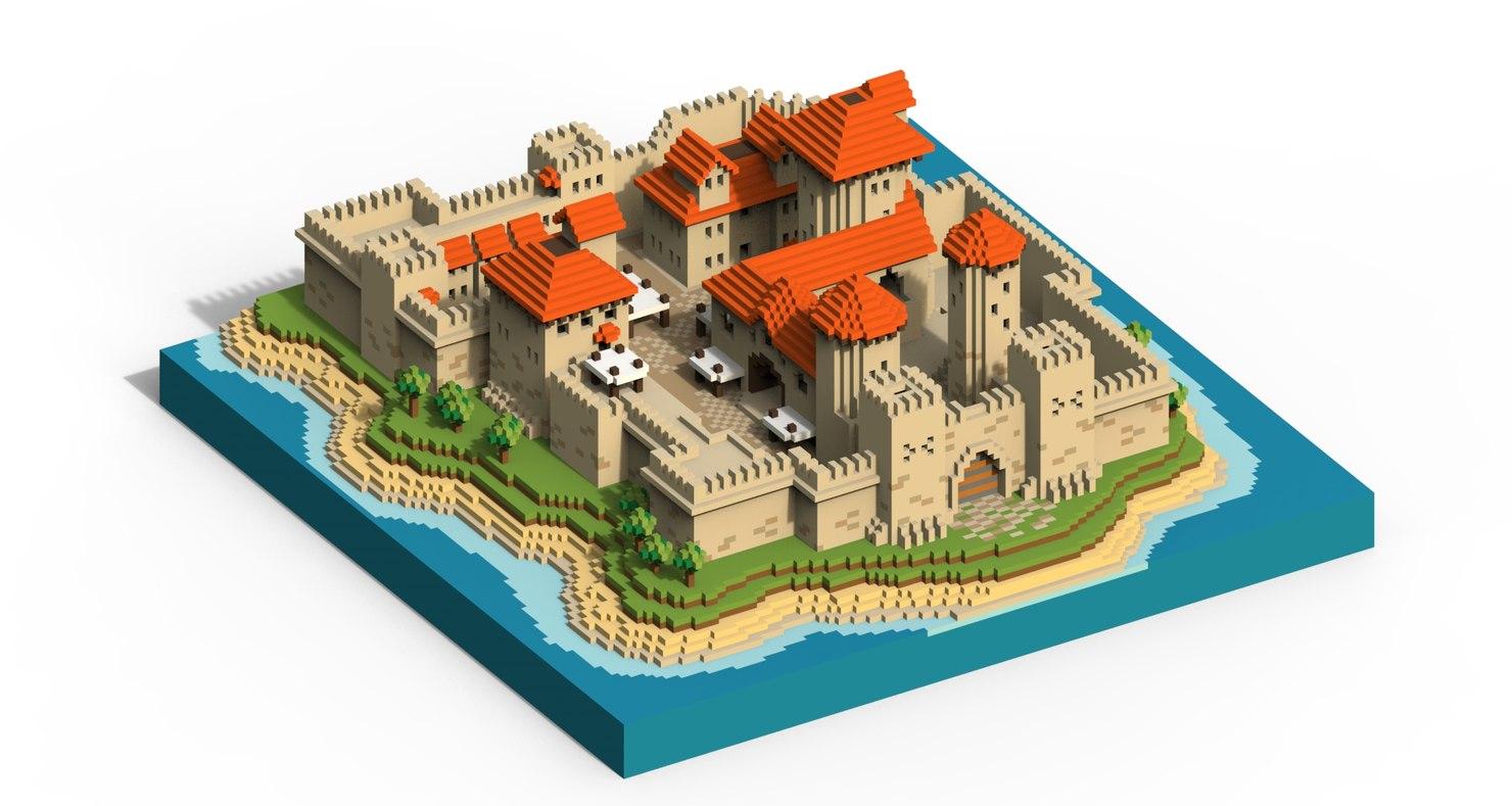 castle voxel 3D model