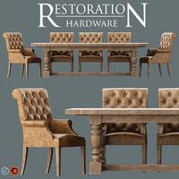 3D bennett roll-back armchair 1930s model