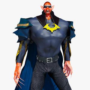 vampire man character 3D model