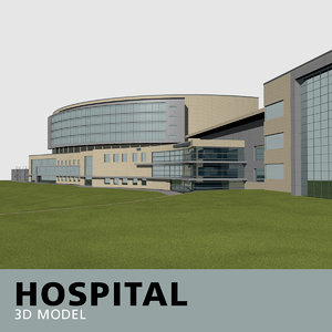 hospital glass brick model