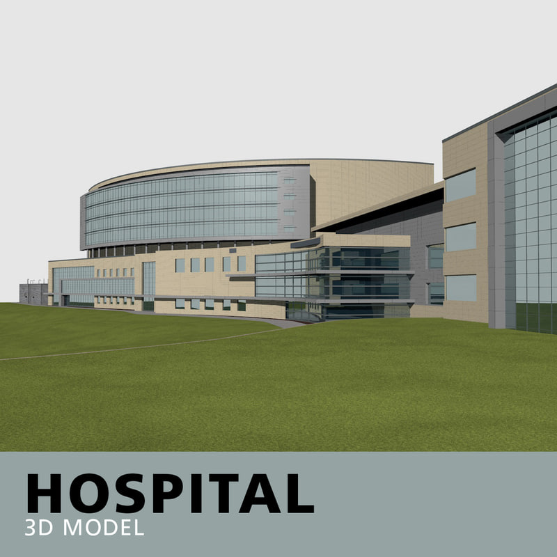 hospital glass brick model