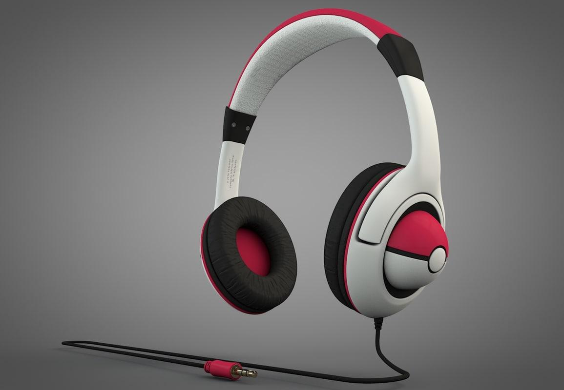 3D pokemon-style headphones