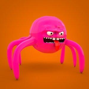 comic spider 3D model