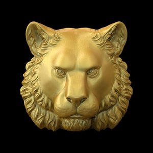 3D tiger head