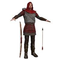 3D scarlet man bow
