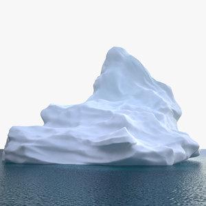3D iceberg h v3 model