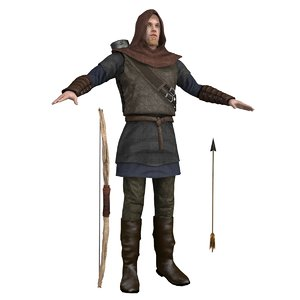 archer man bow 3D model