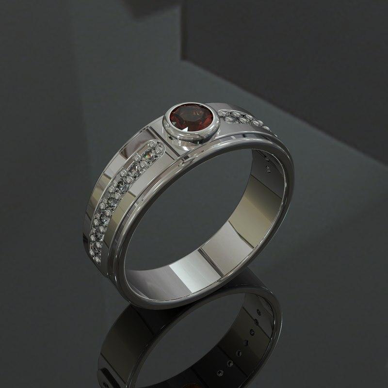 3D ring unisex model