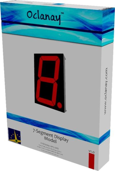 display seven segment 3D model