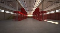 warehouse scene factory storage goods yard packing house depot