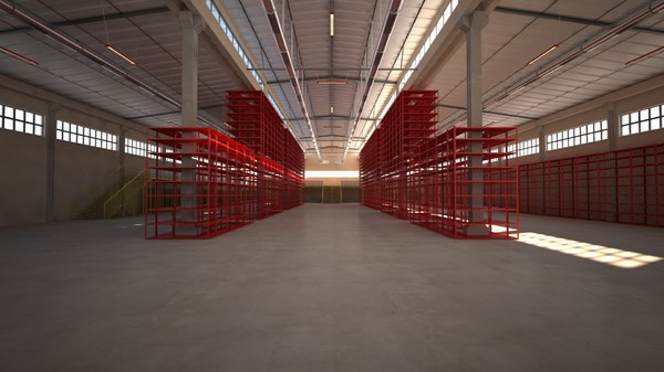 warehouses factory building scene 3D model
