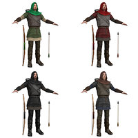 3D pack archers bow arrow
