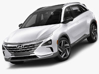 3D model hyundai nexo 2019