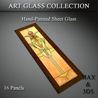 art glass set 22 3D model