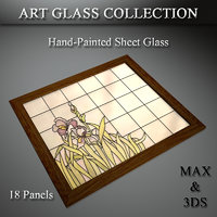 art glass set 23 3D